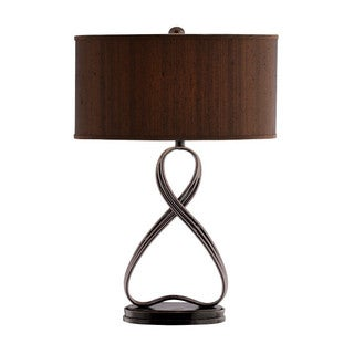 Lazy Eight Scupted Metal Table Lamp