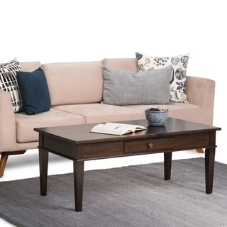 WYNDENHALL Richland Dark Tobacco Brown Coffee Table