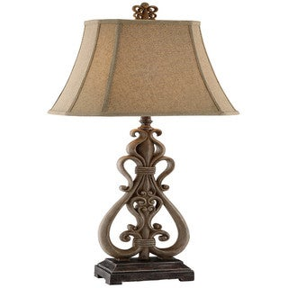Avril Resin Scroll Table Lamp