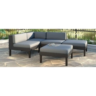 CorLiving Oakland 5-piece Sectional with Chaise Lounge Patio Set