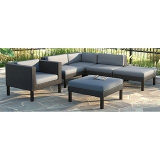 CorLiving Oakland 6-piece Sectional with Chaise Lounge and Chair Patio Set