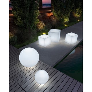 Cube Lumen Medium Multicolor Stool