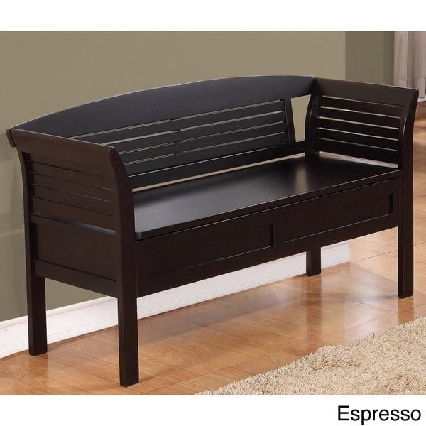 Overstock Foyer Bench : Wyndenhall raleigh entryway storage bench
