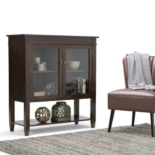 Richland Collection Dark Tobacco Brown Medium Storage Media Cabinet and Buffet
