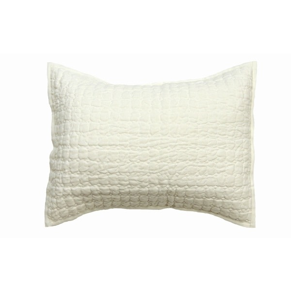 Karina White Boudior Throw Pillow