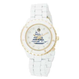 The Macbeth Collection Women's Sailboat Goldtone White Watch