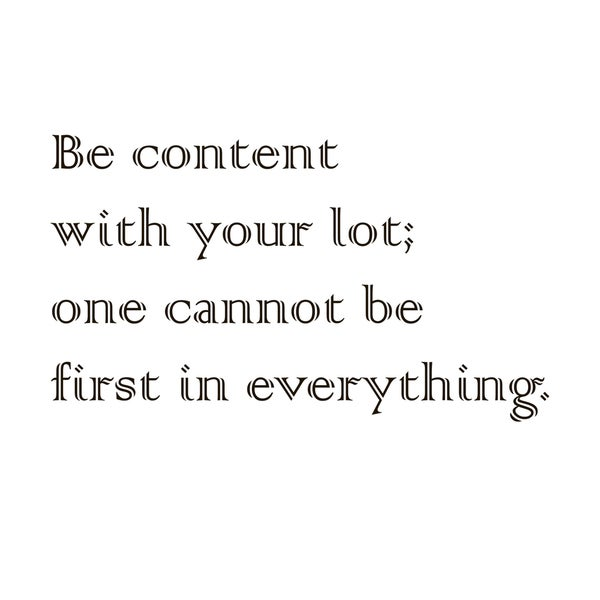 Be Content Wall Decor Quote