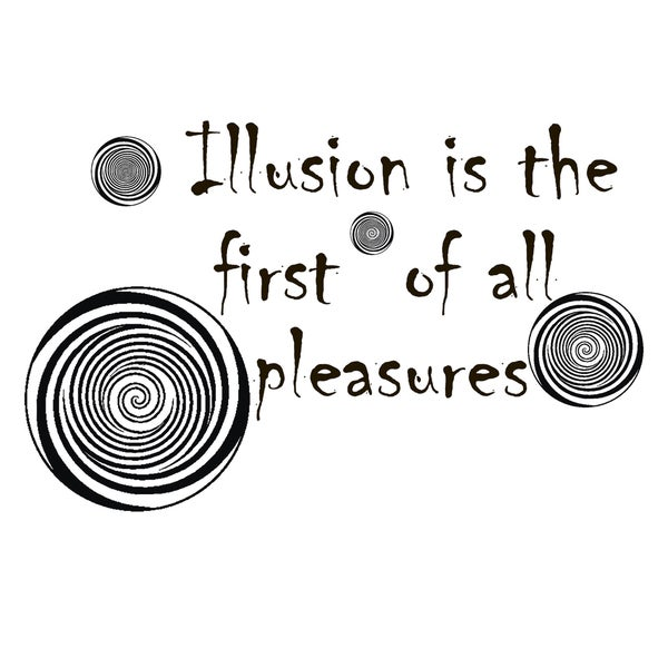 Wall Decor Quote About Illusion