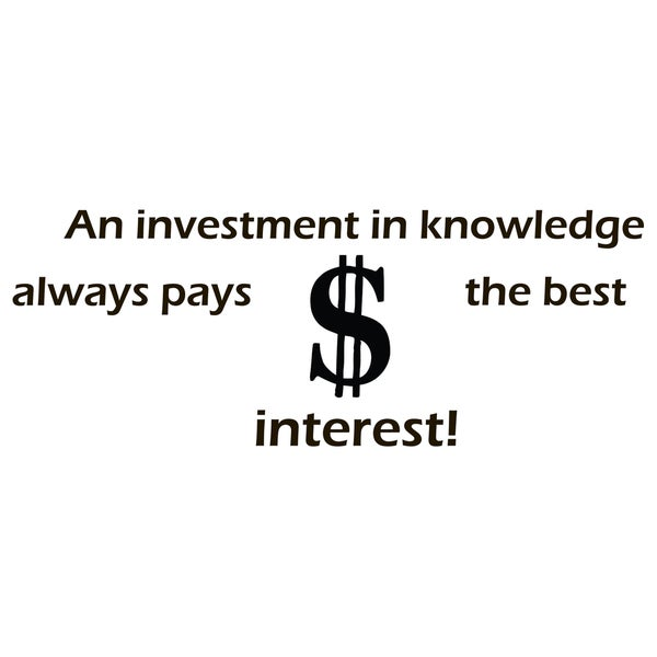 Wall Decor Quote About Investments