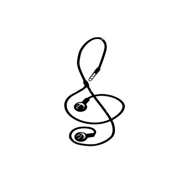 Microphone Jack Music Note Mural Vinyl Wall Art