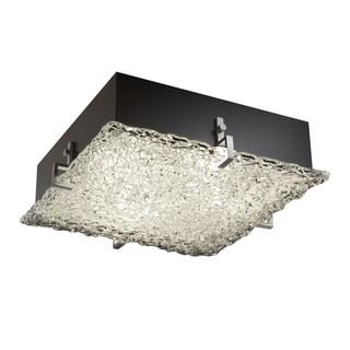 Justice Design Group Veneto Luce Clips 2-light Brushed Nickel Flush-Mount