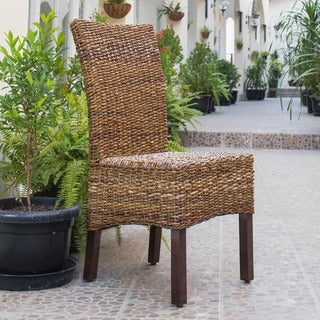 International Caravan 'Arizona' Woven Abaca Dining Chairs (Set of 2)