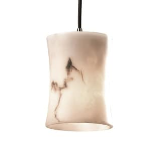 Justice Design Group LumenAria Single-light Hourglass Nickel Mini Pendant