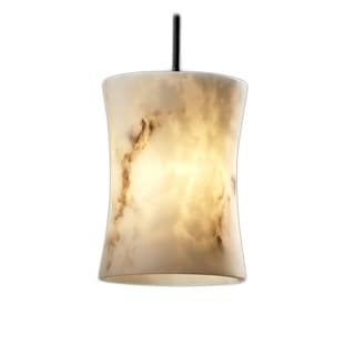 Justice Design Group LumenAria Faux Alabaster Resin Hourglass Shade 1-light Pendant