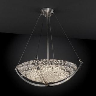 Justice Design Group Veneto Luce 6-light Lace with Nickel Pendant