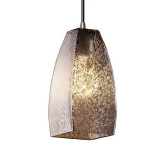 Fusion 1-Light Tapered Square Shade Small Nickel Pendant