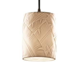 Limoges Single-light Flat Rim Dark Bronze Mini Pendant