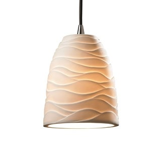 Limoges Single-light Tapered Cylinder Nickel Mini Pendant
