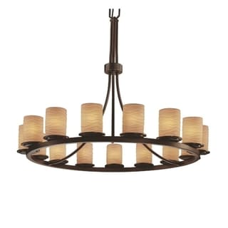 Limoges 15-Light Waves with Dark Bronze Chandelier