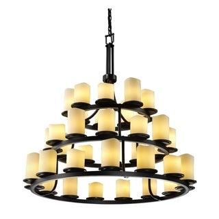 Justice Design Group CandleAria 36-light Matte Black Chandelier