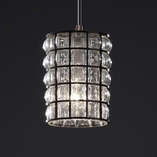 Justice Design Group Wire Glass 1-light Dark Bronze Pendant