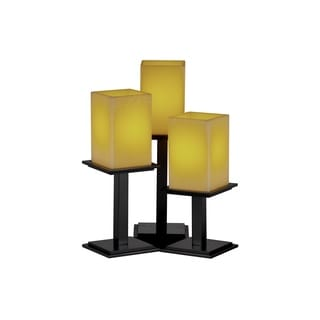 Justice Design Group CandleAria 3-light Amber with Matte Black Table Lamp