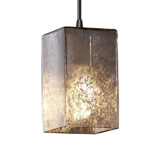 Justice Design Group Fusion 1-light Flat Rim Shade Small Dark Bronze Pendant