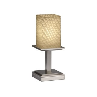 Justice Design Group Fusions Montana 1-light Short Nickel Table Lamp
