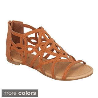 Top Moda Women's 'QS-31' Cut-out Gladiator Sandals
