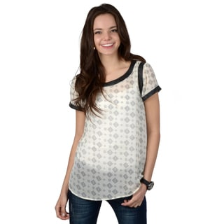 Journee Collection Women's Lightweight Short-sleeve Top