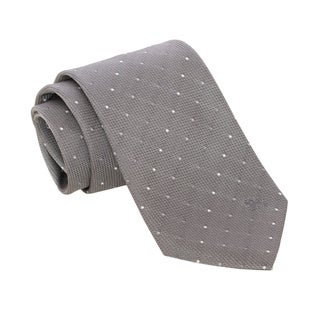 Burberry Light Grey Polka Dotted Silk Tie