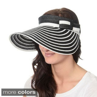 Magid Hats Women's Striped Roll-up Sun Visor