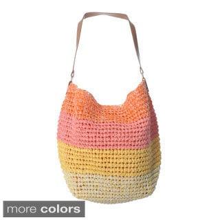 Magid Women's Colorblocked Crochet Hobo Bag