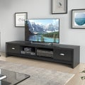 CorLiving Lakewood Modern Wenge Finish Extra Wide TV Bench