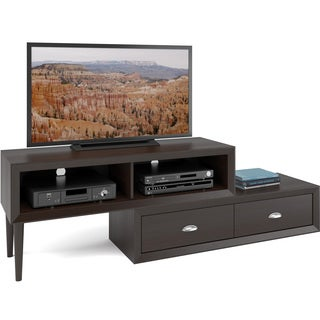 CorLiving Lakewood Espresso Finish 2-tiered Adjustable TV Bench