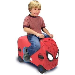 VRUM Marvel Spiderman Carry-on Ride Along Kids Suitcase