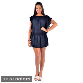 Women's Short Wave-sleeve Mini Dress (Indonesia)