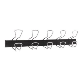 Alba Modern 5 Peg Metal / Plastic Wall Mount Coat Hook