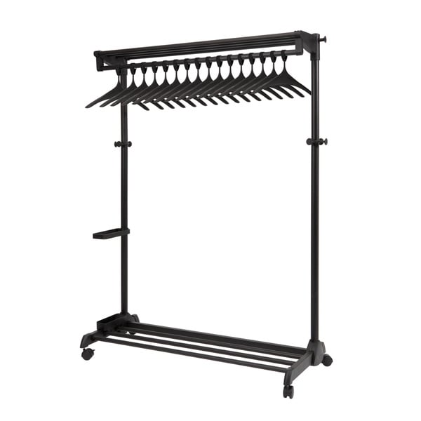 Alba Black Garment Rack with Theft Deterrent Hanging System