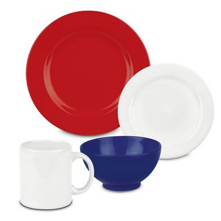 Waechtersbach Fun Factory Red White and Blue Dinnerware 16-Piece Place Setting (Service for 4)