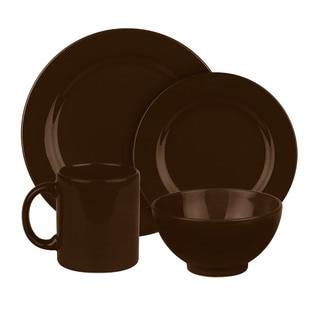 Waechtersbach Fun Factory Chocolate Dinnerware 16-Piece Set (Service for 4)