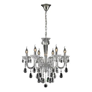 Formont 6-light Clear/ Chrome Crystal Chandelier