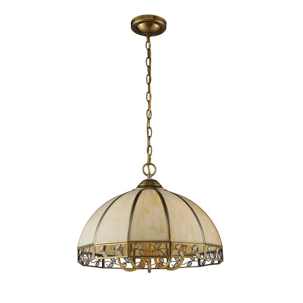 Gerard Solid Brushed Brass Art Glass Shade 5-light Chandelier