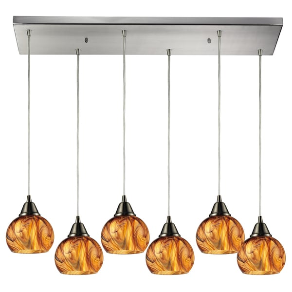 Ella 6-light Satin Nickel Chandelier
