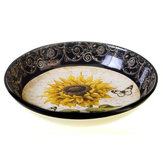 French Sunflowers 13.25-inch Pasta Serving Bowl