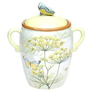 Herb Garden 10.5-inch Ceramic Biscuit Jar