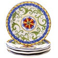 Amalfi 8.75-inch Ceramic Salad/ Dessert Plate (Set of 4)