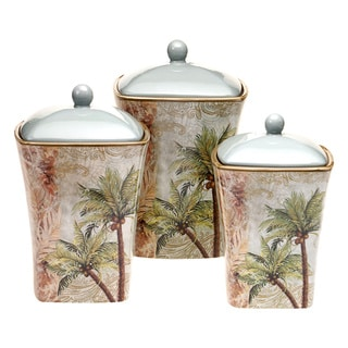 Key West 3-piece Ceramic Canister Set