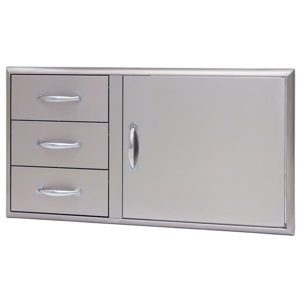 Blaze 39-inch Access Door and Triple Drawer Combo