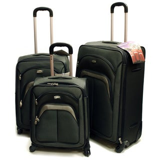Travel King Green Lightweight 3-piece Spinner Luggage Set